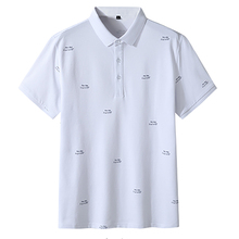 Men's Golf Shirt Summer Plus Size Men Lapel Short Sleeve T-Shirt Breathable Fatty Golf Leisure Sweatshirt