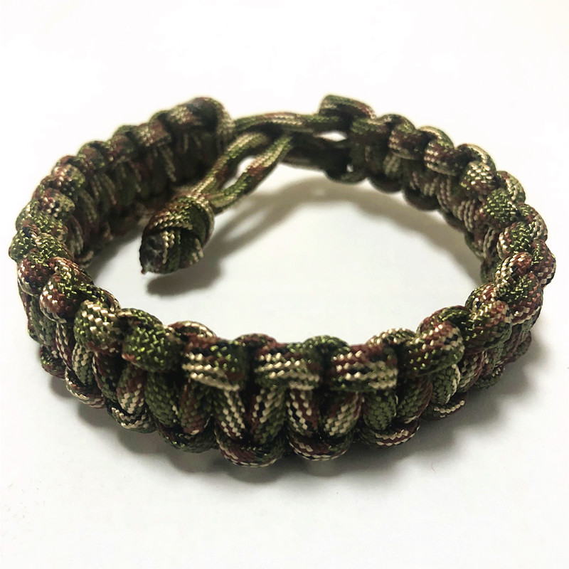 Adjustable Military Survival Emergency 550 Paracord Bracelet 7 Stands Parachute Cord Bracelet For Camping Hiking Outdoor