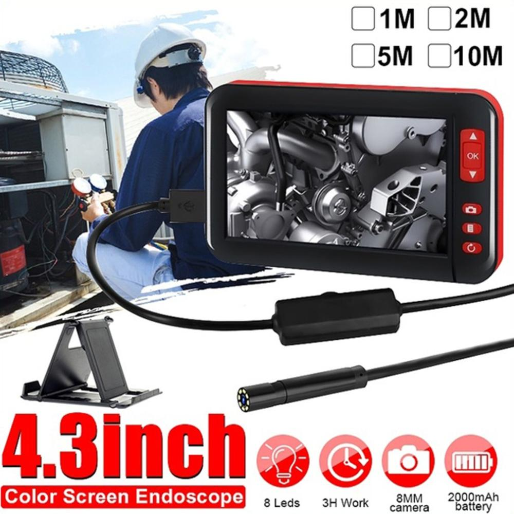 4.3 Inch Led Color Screen Hd 1080P Digital Endoscope Borescope Inspection Camera Adjust Brightness For Automobile|Surveillance Cameras| |  - title=