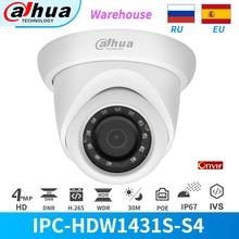 Dahua caméra IP 4MP IR LEDs PoE caméras de sécurité IPC-HDW1431S-S4 globe oculaire IP67 IVS WDR H.265 + détection de mouvement CCTV Onvif caméra