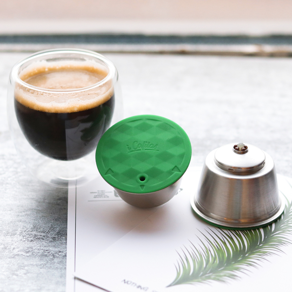Stainless Metal Rusable  Fit For Nescafe With Filter Uesed 200 Time Coffee Ground Tamper Coffee Spoon Clip