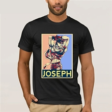 Summer Style Cool Shirts Jojos Bizarre Adventure Vintage Joestar Joseph T Shirt Sale 100% Cotton Pop Boy Men Cheap
