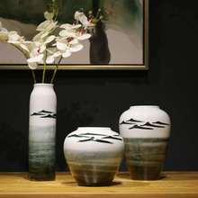 Дзен китайская ручная роспись керамическая ваза декорация креативный цветок гостиная стол украшения дома ваза для украшения интерьера