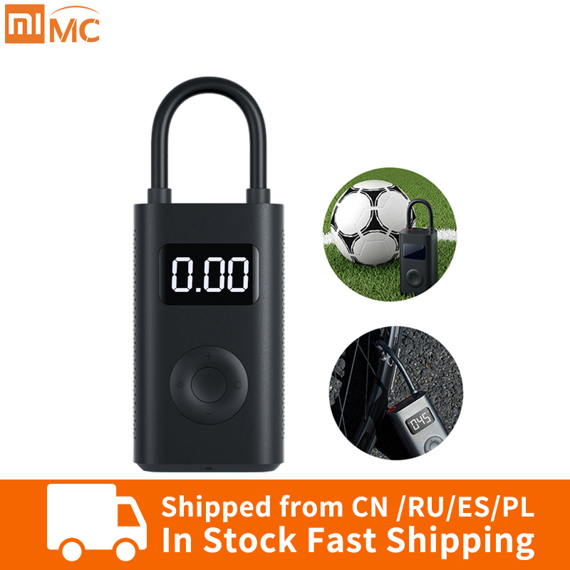 US $38.99 33% OFF|Xiaomi Mi Mijia Portable Smart Digital Tire Pressure Detection Electric Inflator Pump For Bike Motorcycle Car Football|Smart Remote Control| |  - AliExpress