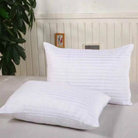 Household Linen Pillows Help Sleep Comfortably Fashion Classic Cotton Filling Color White Pillows for Sleeping And Bedroom