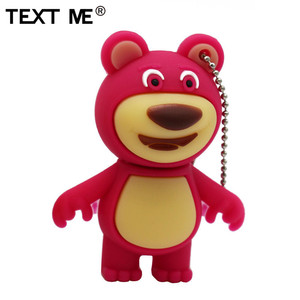 Image 5 - TEXT ME cute carton bear model usb flash drive  4GB 8GB 16GB 32GB 64GB pendrive gift usb 2.0
