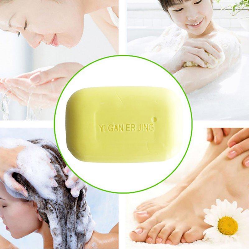 5pcs YIGANERJING Sulfur Soap Acne Psoriasis Seborrhea Eczema Anti Fungus Bath Cream Soap Antibacterial Skin Care