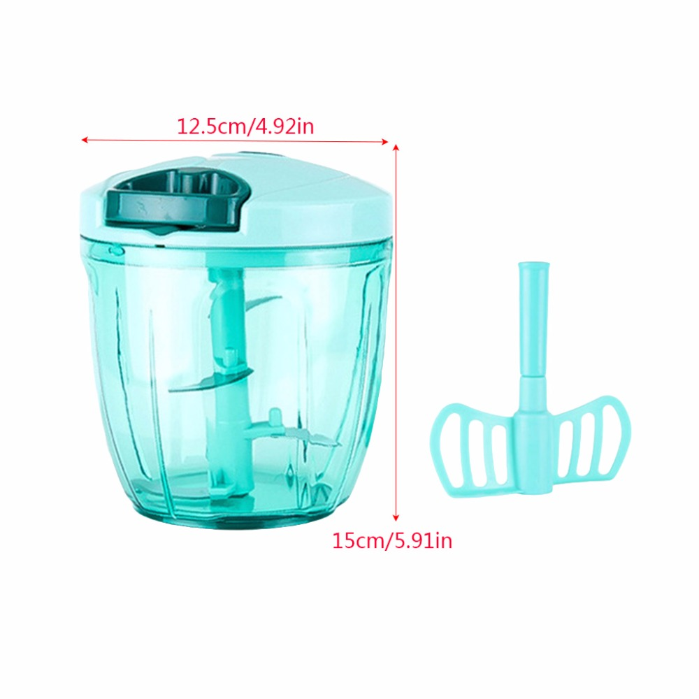 Manual Food Processor Chopper Blender Slicer Hand Mixer Safe Durable Kitchen Household Mixer