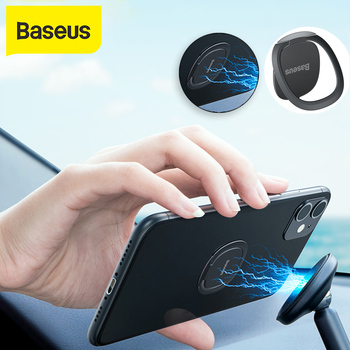 Baseus Car Phone Holder Thin Invisible Phone Ring Holder For Mobile Phone Metal Finger Ring Holder Stand for Phone Holder mini phone ring finger ring holder metal phone stand mount smartphone holder for xiaomi samsung s10 tablet mobile phone portable