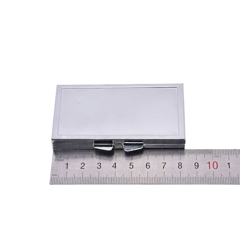 Diy 7 グリッド折りたたみピル容器薬ピルボックス金属合金 84 ミリメートル * 45 ミリメートル * 12 ミリメートルピルケース