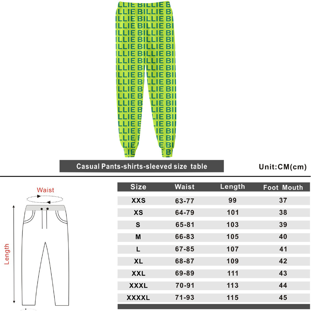 Image 3 - Kpop Clothes Billie Eilish Green Hoodie Sweatshirt Pants Tees Woman Streetwear Bad Guy 3D Print New Letter Coat Tops Tshirt Suit-in Women's Sets from Women's Clothing