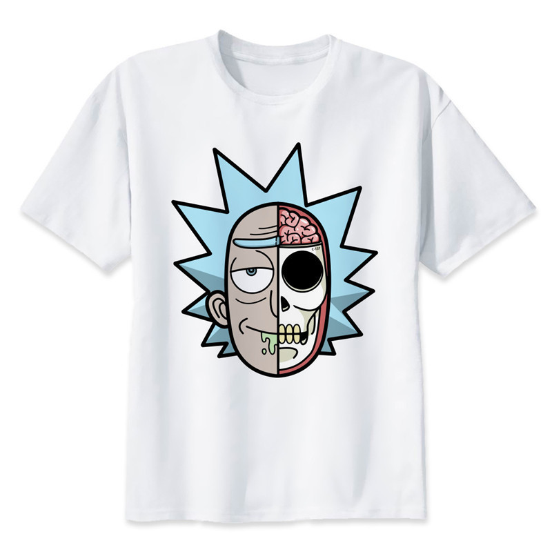 New Arrival Rick And Morty T Shirt Men Ricky And Morty Print T-Shirts Funny Clothes Tshirts Man Pickle Rick White Tee Shirts