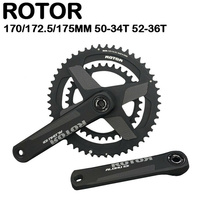 ROTOR ALDHU Crankset 170mm 172.5mm 175mm Crankarms 52-36T 50-34T Crown Chainring With Axis For Road Bike Cycling Crankset
