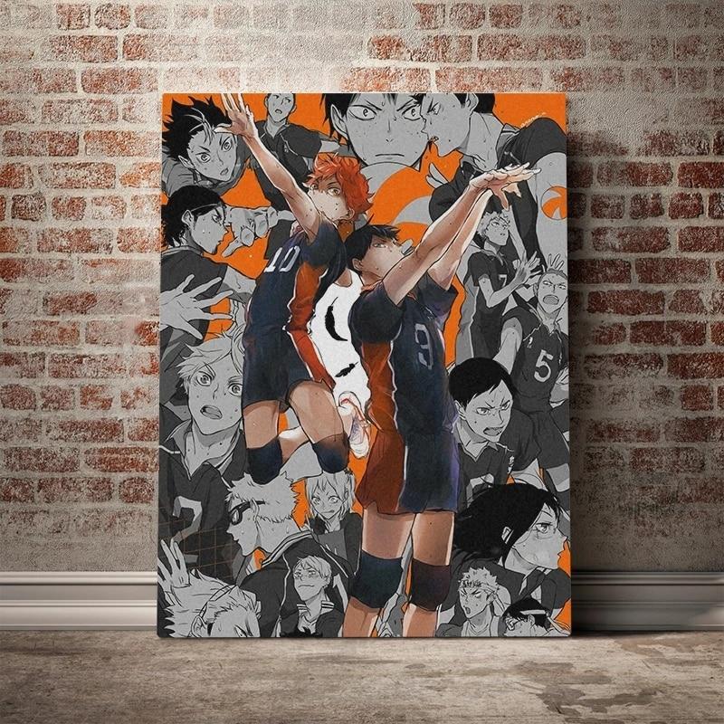 Haikyuu Karasuno High Anime Wall Art Canvas Paintings Home Decor Picture Hd Prints Modern Poster For Bedroom Modular No Framed