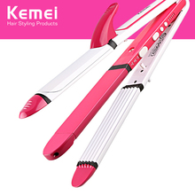 KM-3304 3 in 1Electric Hair Straightening Hair Curler Iron H