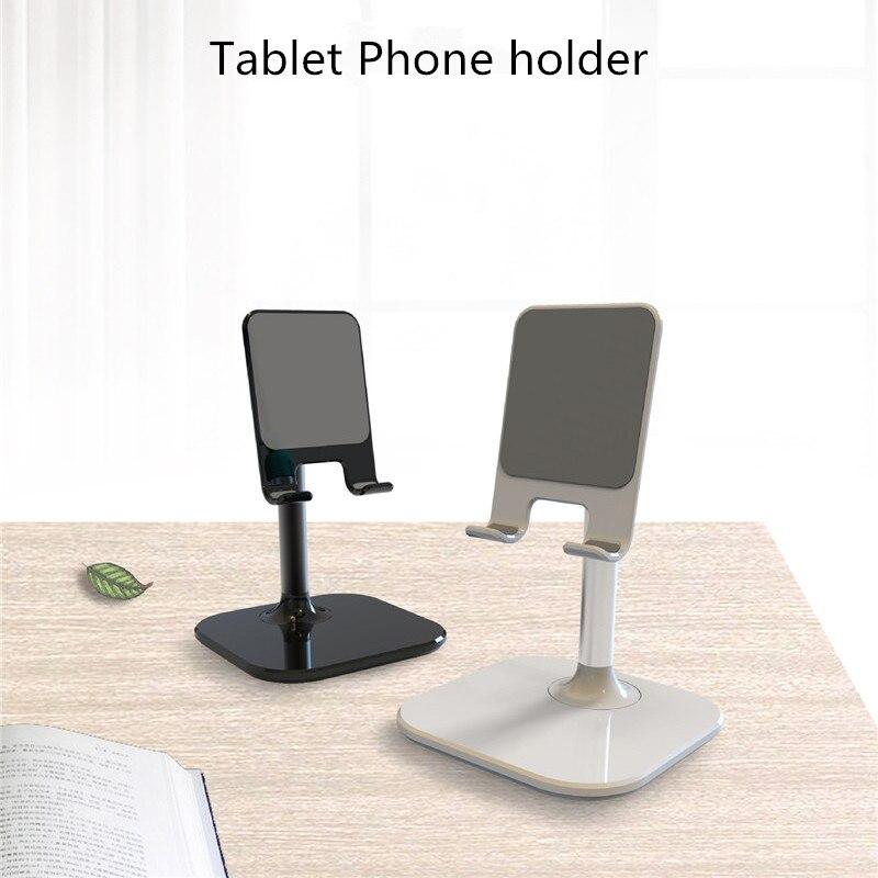 Desktop Metal Mobile Phone Holder Lazy Person Adjust CellPhone Support Tablet Universal Mini Size Live TV Stand Black Silver