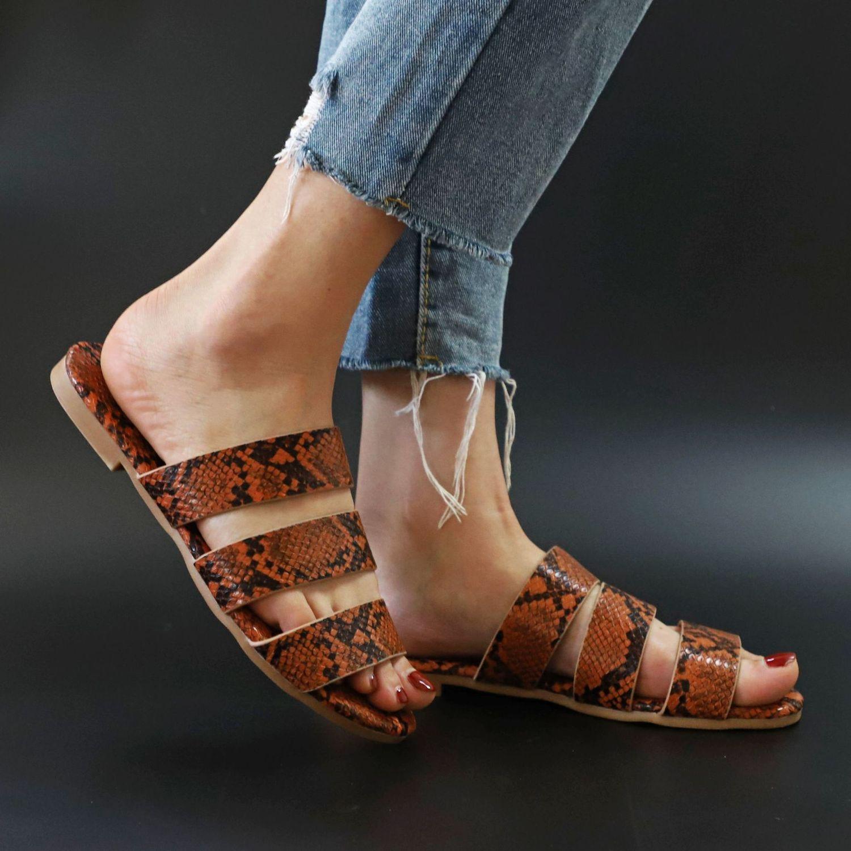 Sandals Snake Non-slip Outdoor Slippers 2020 Women Fashion Wild Wild Beach Shoes Sandals Flat Bottom Ladies Slippers 3