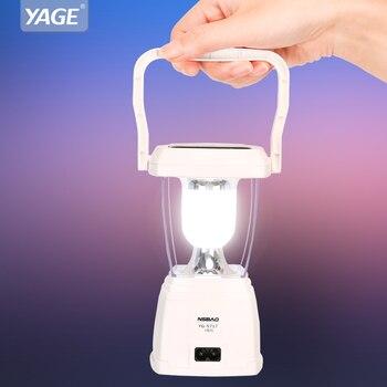 Linterna Solar portátil regulable 500mAh batería recargable Lampe al aire libre 4 piezas LED tienda de campaña luz lámpara de trabajo ajustada sin pasos