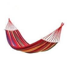 Hammock Outdoor Camping Leisure Single/Double Canvas Swing Bedroom Dormitory Indoor Glider