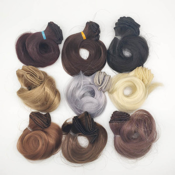 BJD Wig Accessories Synthetic Doll Hair 15CM Curly DIY Hair For Dolls image