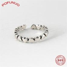 Pofunuo винтажные кольца из стерлингового серебра 925 пробы