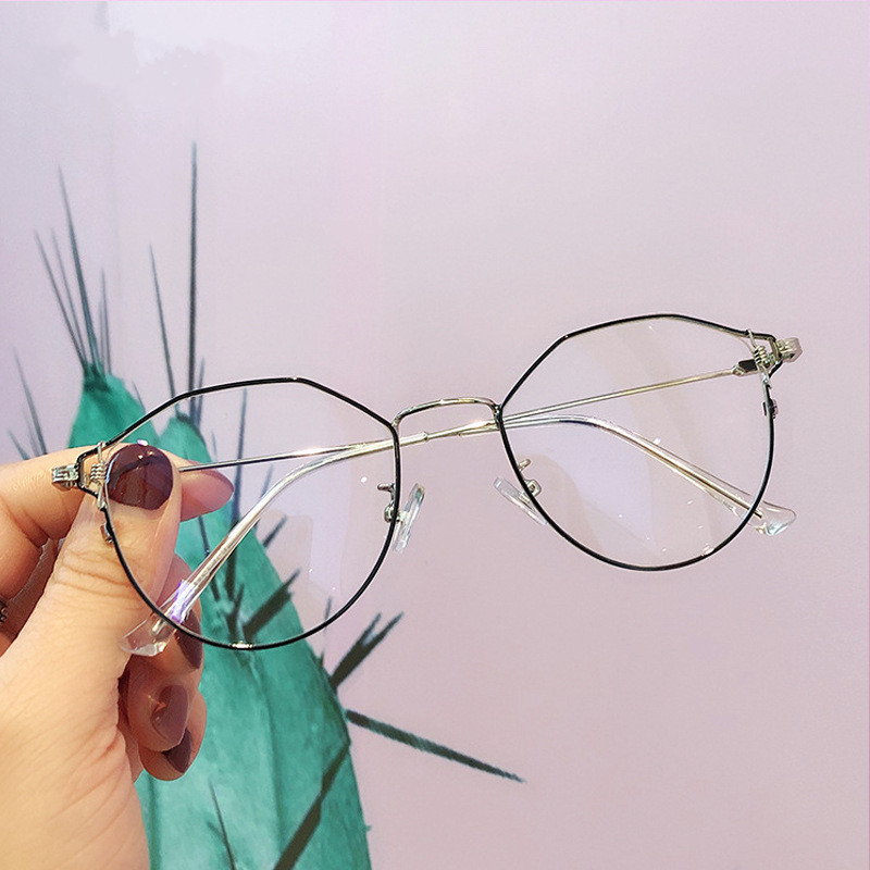 NYWOOH Anti Blue Light Computer Glasses Cat Eye Eyeglasses Frames Women Transparent Optical Frame Retro Spectacles