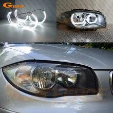 Pour BMW série 1 E82 E88 E87 E81 excellente qualité lumière de jour Ultra lumineux DTM M4 Style led ange yeux kit halo anneaux DRL