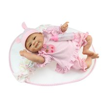 40/42/55cm Newborn Baby Doll Toys Full Body Soft Silicone Vinyl Baby Doll Handmade Lifelike Reborn Baby Doll Non-toxic Safe Toys ocday reborn baby boy doll 56cm full body soft silicone vinyl handmade lifelike toys doll for kids playmate gift toy cute reborn