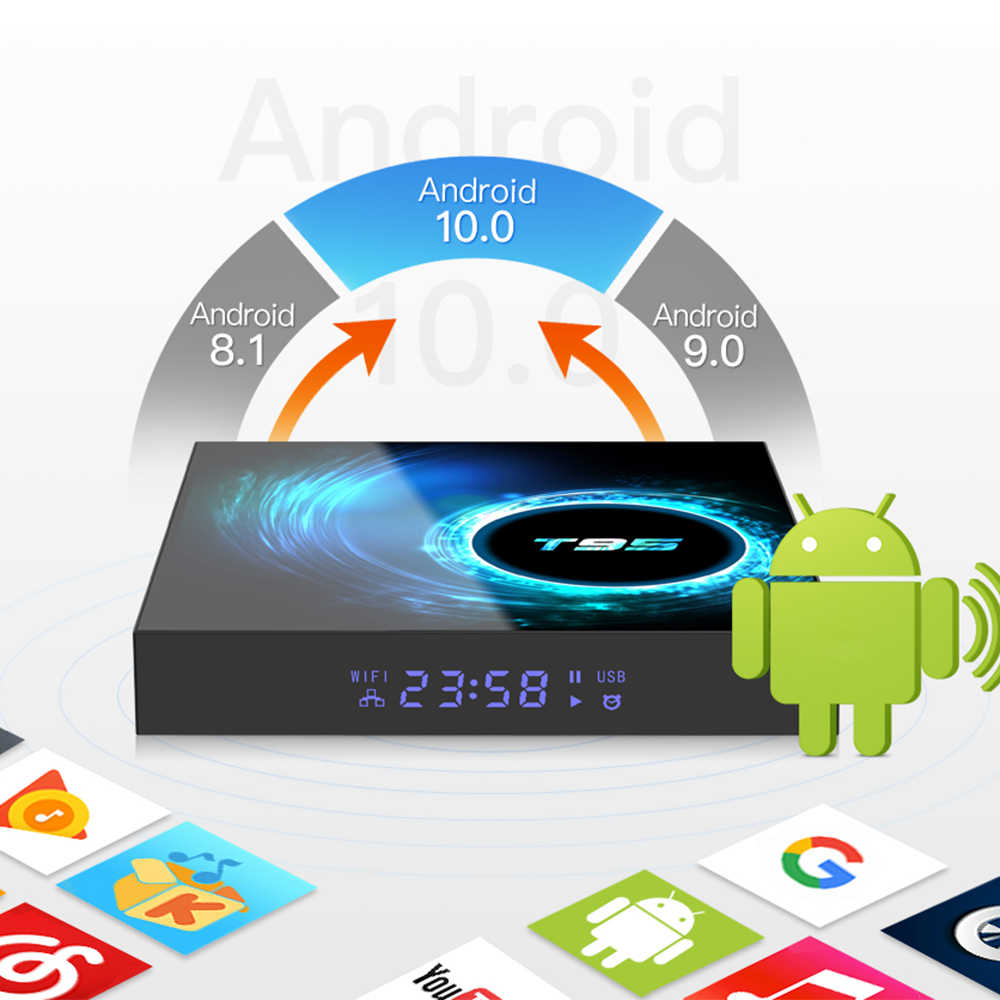 2020 Baru TV Box Android 10.0 Netflix YouTube HD 6K Android TV BOX Google Voice Assistant Lemado Smart TV kotak 9 Dukungan Spanyol