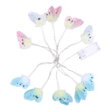 10 LED Butterfly Decorative String Lights Night Lamp Kids Room Used for Christmas Holiday Party Decoration