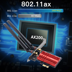 Image 4 - ワイヤレスデスクトップWiFi6 インテルAX200 カードbluetooth 5.0 デュアル 2974mbps pcie無線lanアダプタAX200NGW 802.11ax windows 10