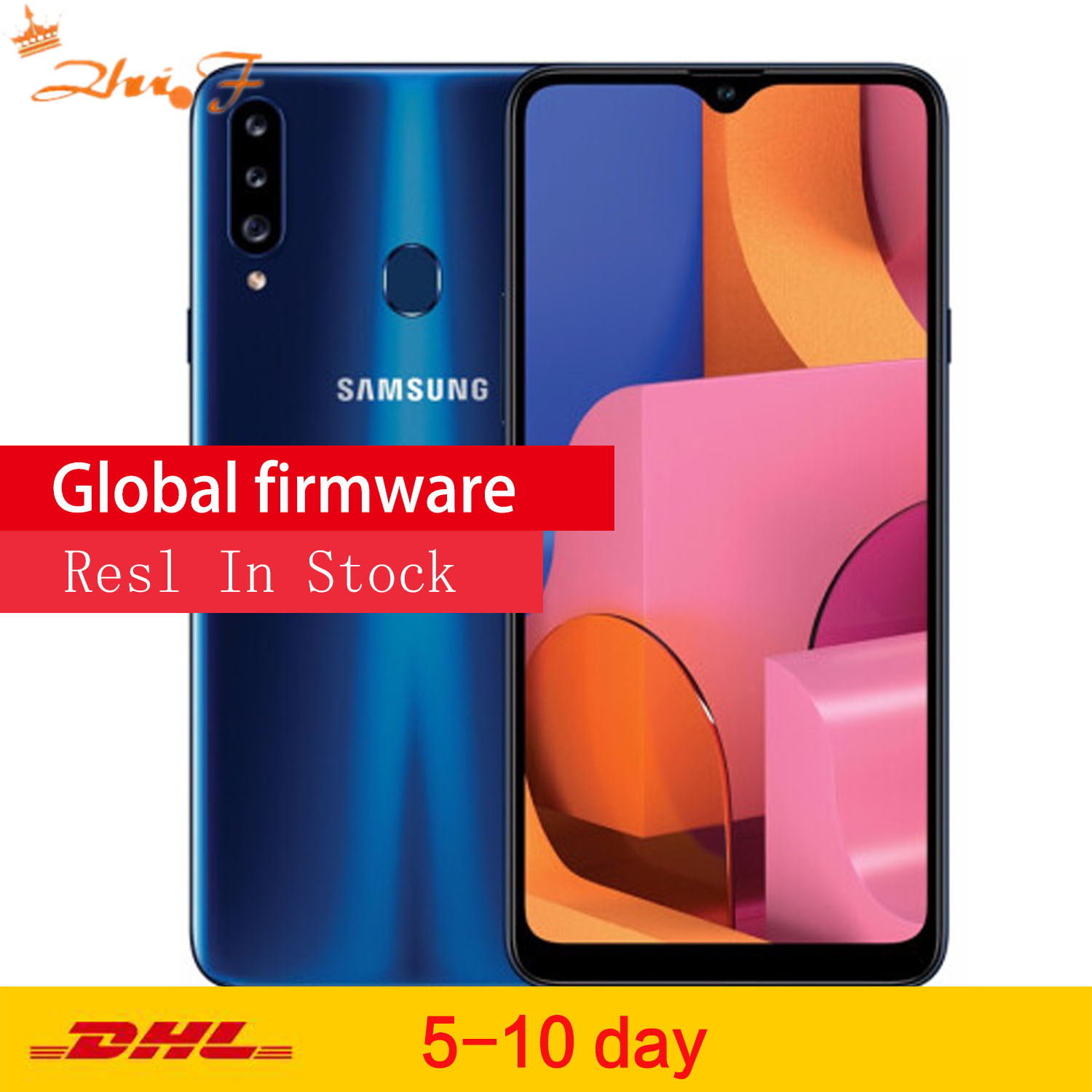 new origina <font><b>Samsung</b></font> <font><b>Galaxy</b></font> <font><b>A20s</b></font> (SM-A2070) LTE Mobile Phone 6.5 4G RAM 64GB ROM Snapdragon 450 13.0MP Rear Camera Phone image