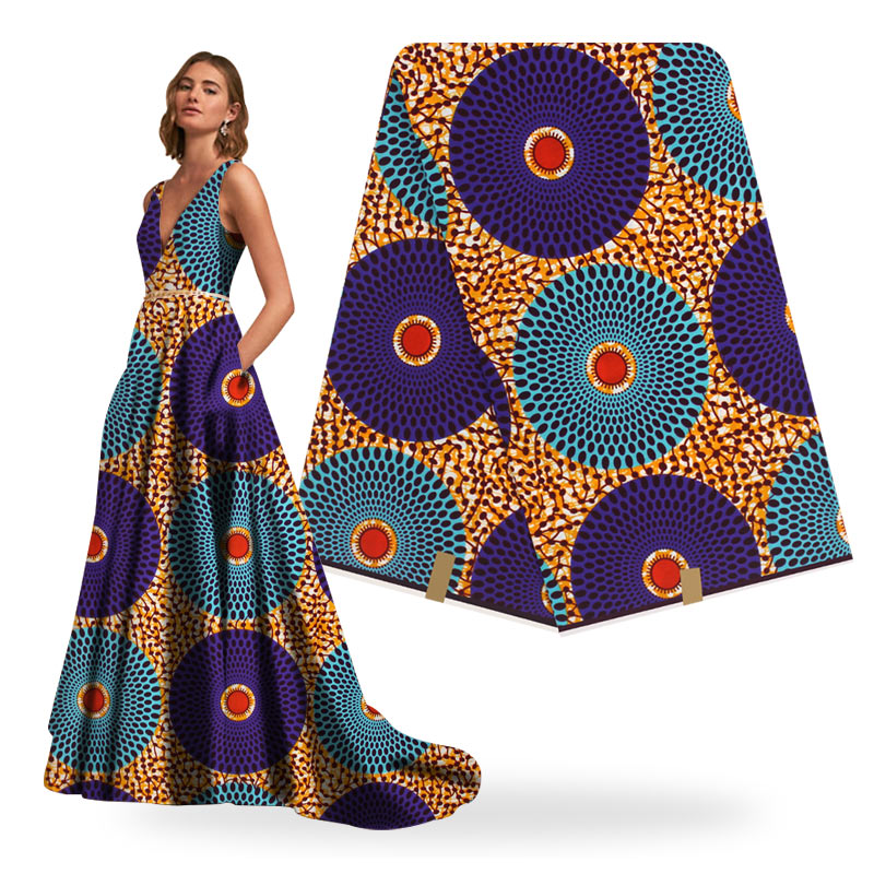 African Wax Print Fabric High Quality Cotton Wax  6yards Wax African Ankara Sewing Fabric For African Dresses For Women