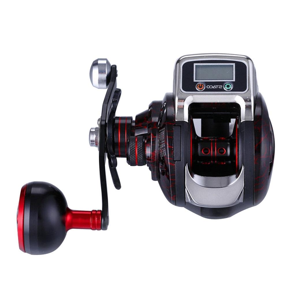 6.3:1 Aluminium Spool 15 Ball Bearing Durable Digital Display High Strength Saltwater Hand Spinning Plastic Fishing Reel Tools