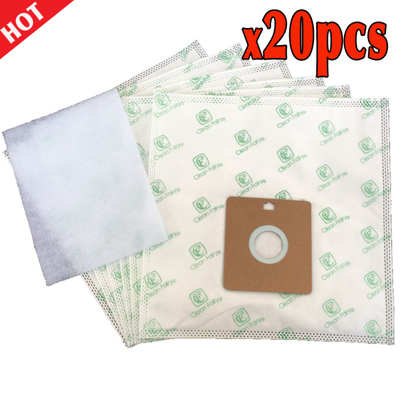 20pcs Vacuum Cleaner Bags Replacement Samsung VP77 SC4180 SC4181, AEG GR.50, Smart 300...366, Nilfisk GM50 55 Menalux 5100