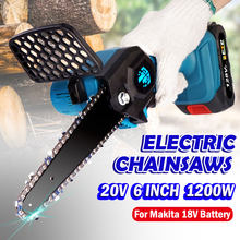 20V 6 Inch 1200W Mini Electric Saw Cordless Portable Handheld Pruning Saw 10000mAh Lithium Battery Saw for Makita 18V Battery