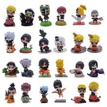 цена на 5 Set 6pcs Naruto PVC Action Figure Cartoon Uzumaki Naruto Sasuke Haruno Sakura Kakashi Collectible Model Toys Gift For Kids
