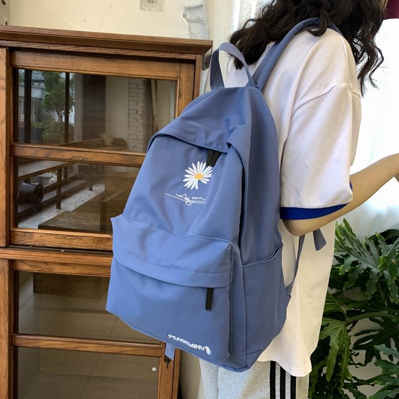 mochila para adolescentes saco de escola com bordados criancas sacos meninas adolescente mochila feminina preto moda