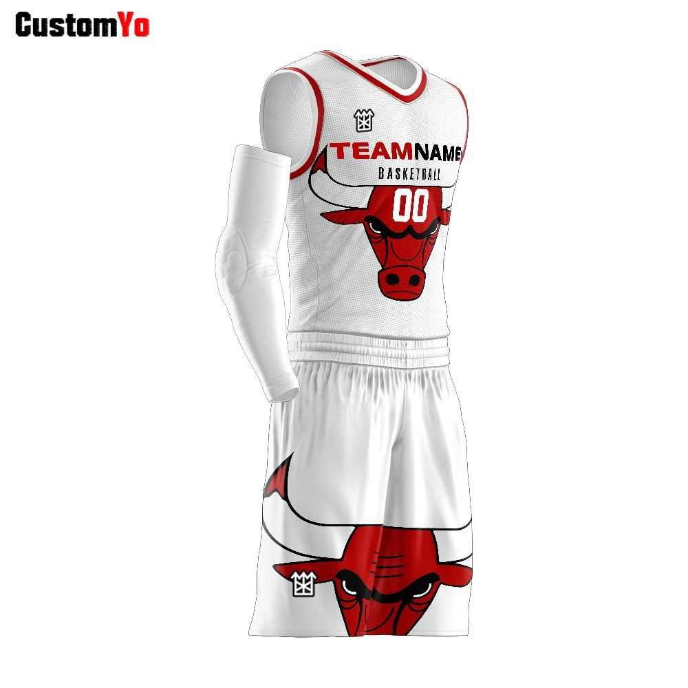 New Style Design Digital Printing Logo Name Guangzhou Basketball Jersey For Team
