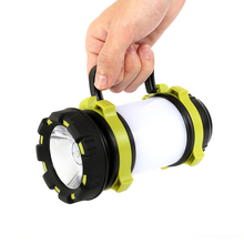 Rechargeable Dimmable Waterproof Camping Lantern Super Bright Fishing Lantern Hunting Torch Flashlight Power Bank