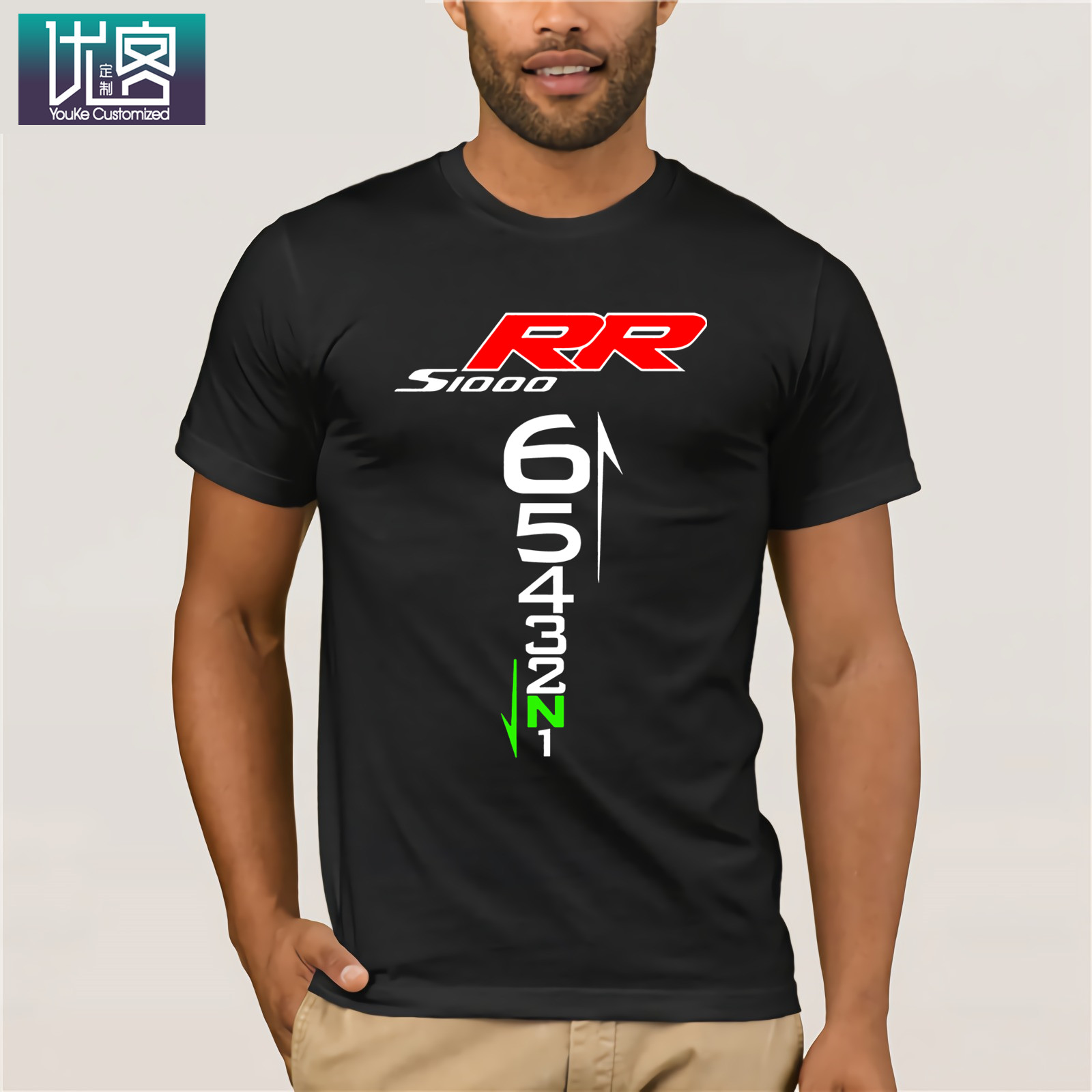 S1000XR NAKED BIKE MOTORCYCLE LOGO T-SHIRT Mens T Shirt Summer O Neck 100% Cotton Men Short Sleeve Tee Cotton Tee Shirt Present image