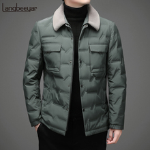 Top Grade New Brand Casual Fashion 2021 Down Coats Men Windbreaker With Fur Collar Winter Parka Jacket Designer Mens Clothing