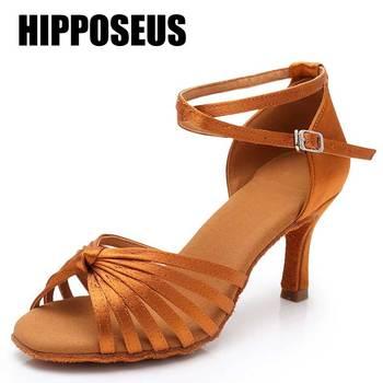 Ladies Latin Dance Shoes Women Girls Tango Salsa Ballroom High Heels Soft Dancing 5/7cm shoes