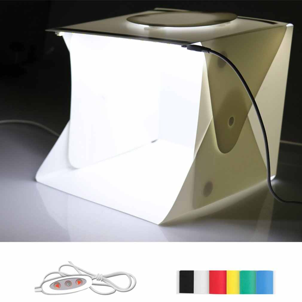 LED Sorot Lipat Portabel LED MIni Studio Soft Light Box Fotografi Lampu Kecil Foto Sederhana Tahan Air Alat Peraga
