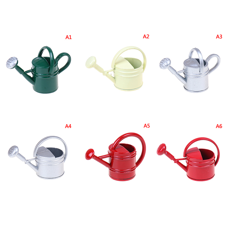 1/12 Watering Can Garden Miniature Decoration For Children Kids Dolls Acces Dollhouse Miniature Furniture Toys