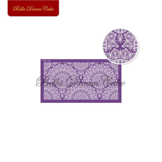 Ретро фиолетовый узор сетчатый трафарет для мастики трафареты