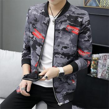 2019 new arrival spring and autumn high quality dress fashion casual printing men's jacket coat large size L-4XL