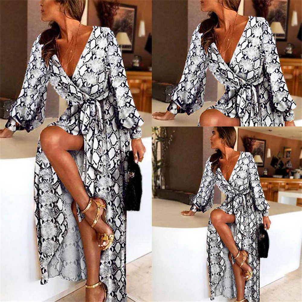 Litthing 2019, новый стиль, женское платье с принтом, сексуальное, с вырезом лодочкой, блестящее, модное, с глубоким v-образным вырезом, женское платье, официальное, длинное платье, сексуальная клубная одежда