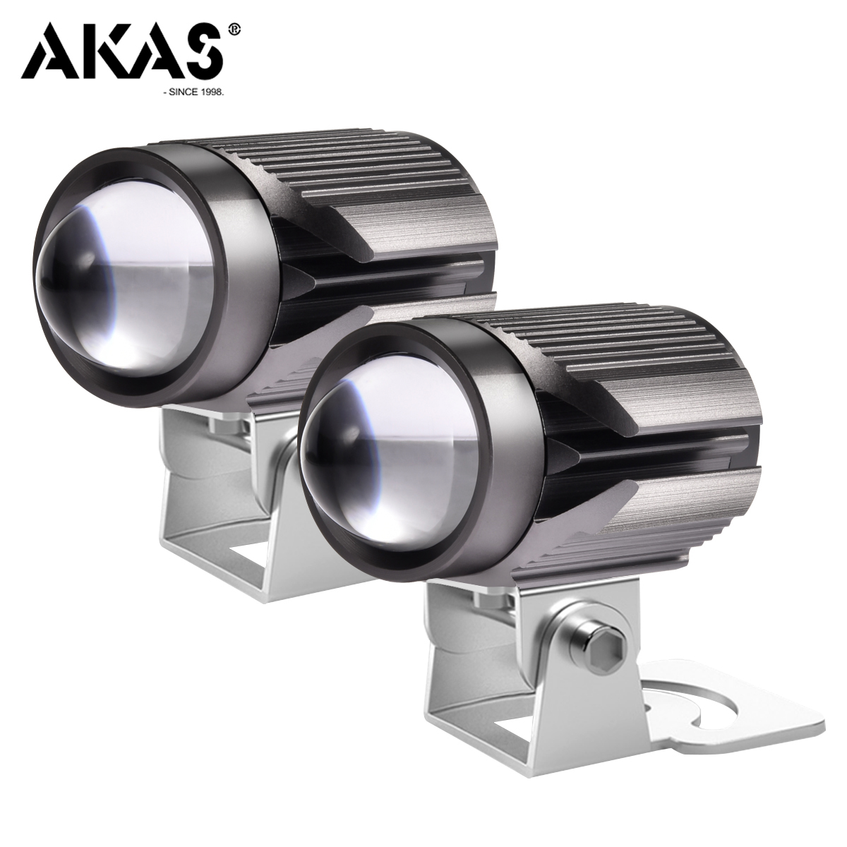AKAS 16W Super Bright Tri-model Motorcycle LED Headlight 9-85V 6000LM Driving Spot Head Lamp Fog Light