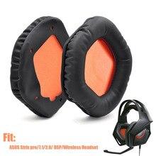 Yedek kulaklık kulak yastıkları kapak Asus STRIX 7.1 STRIX 2.0 yüksek kaliteli yumuşak kulak pedleri yastık Asus STRIX PRO